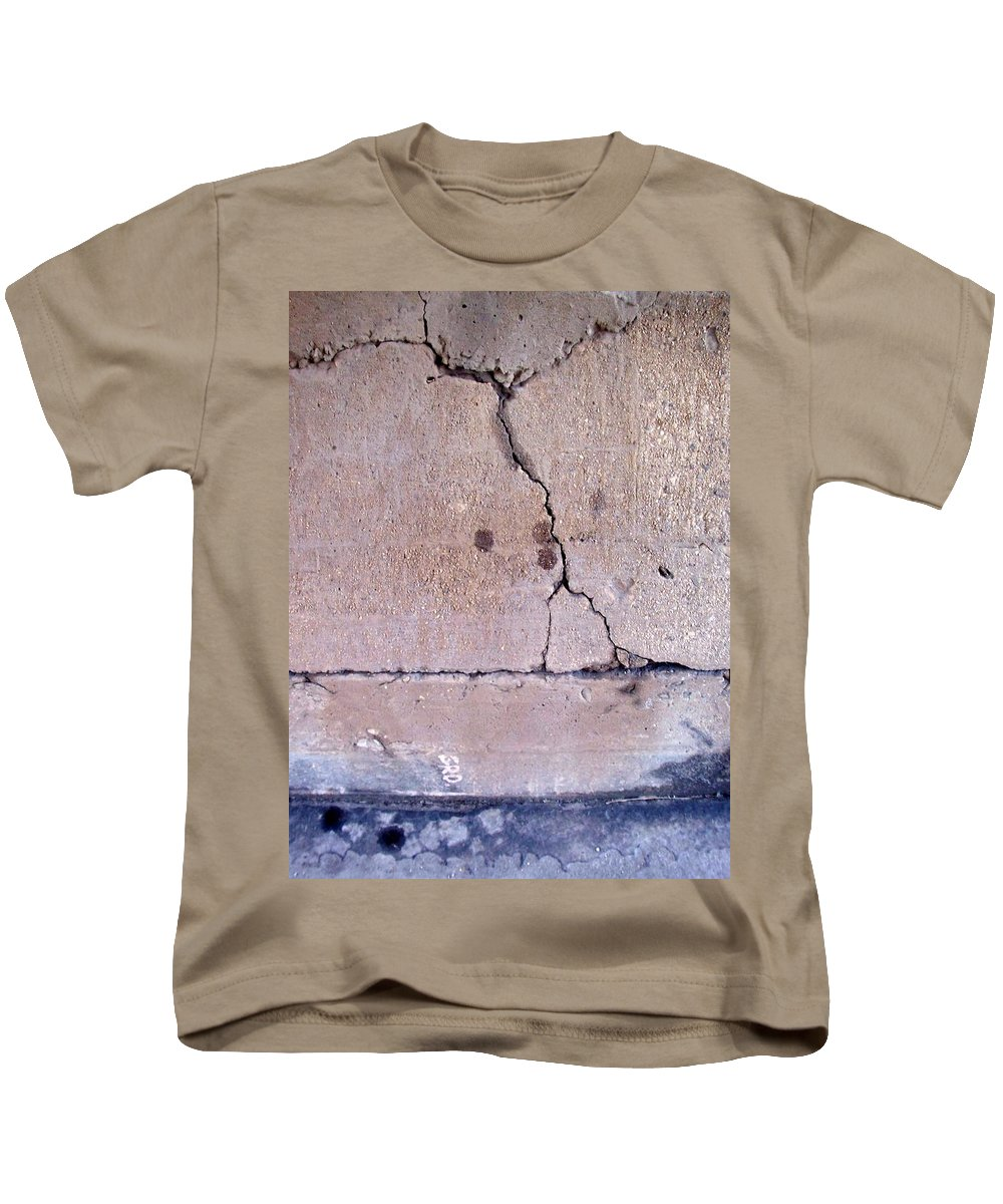 Industrial. Urban Kids T-Shirt featuring the photograph Abstract Concrete 3 by Anita Burgermeister