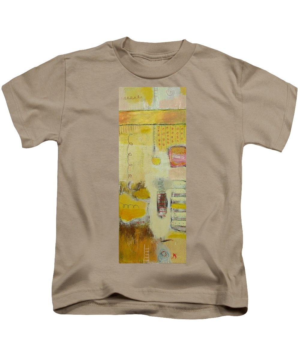 Abstract Kids T-Shirt featuring the painting Abstract Life 1 by Habib Ayat