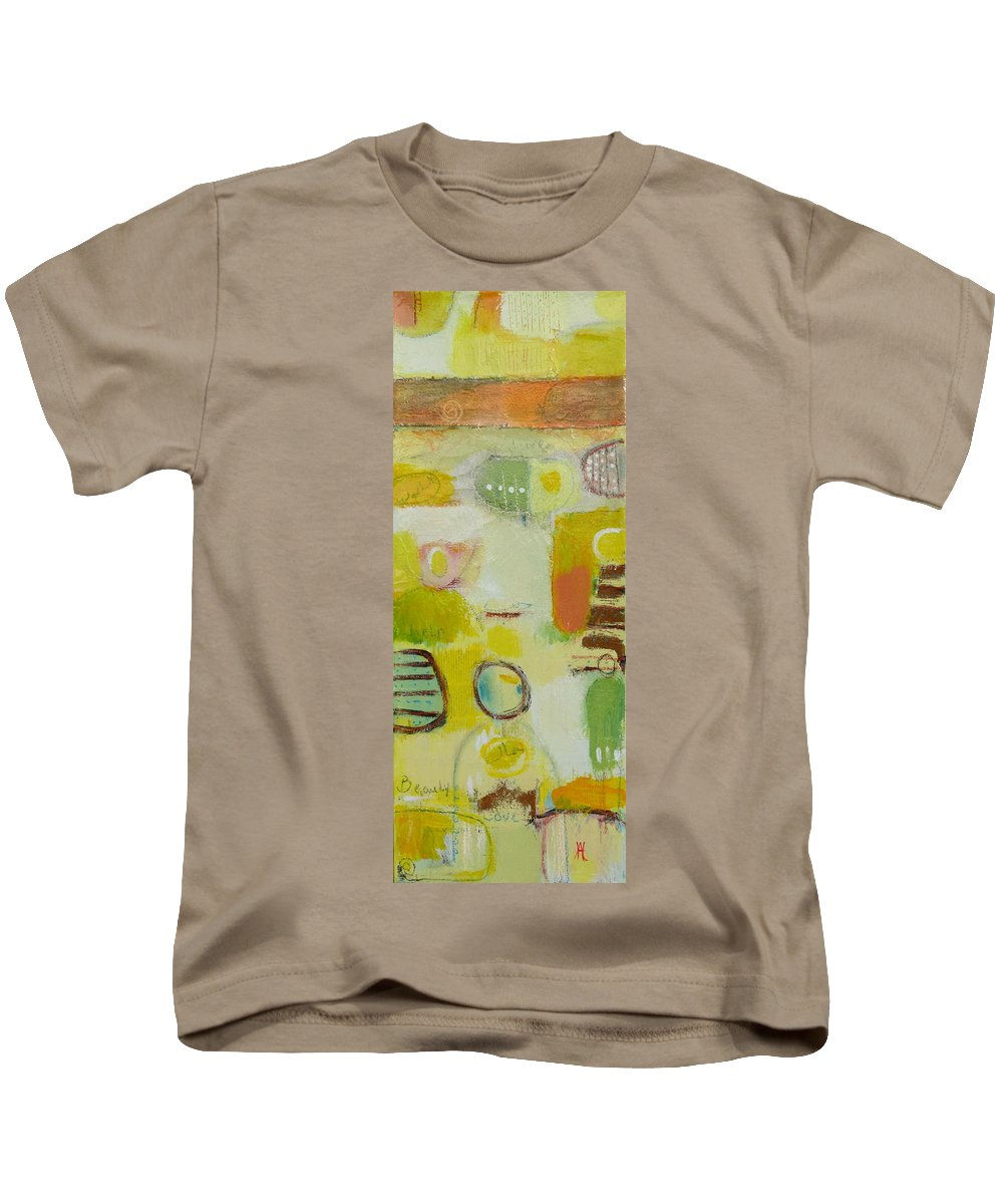 Kids T-Shirt featuring the painting Abstract Life 2 by Habib Ayat