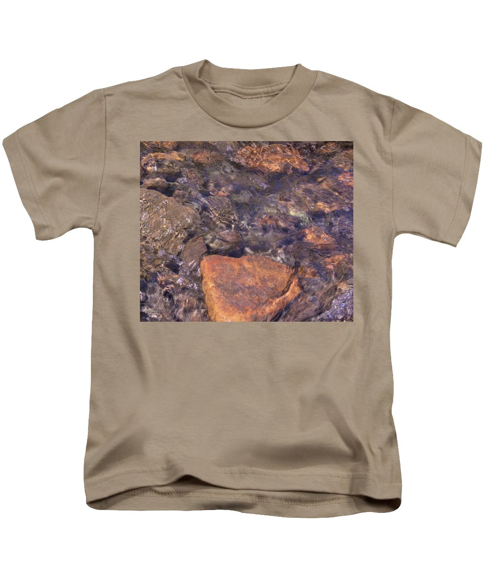 Water Kids T-Shirt featuring the photograph Abstract Water Art Iv by Lori Lynn Sadelack