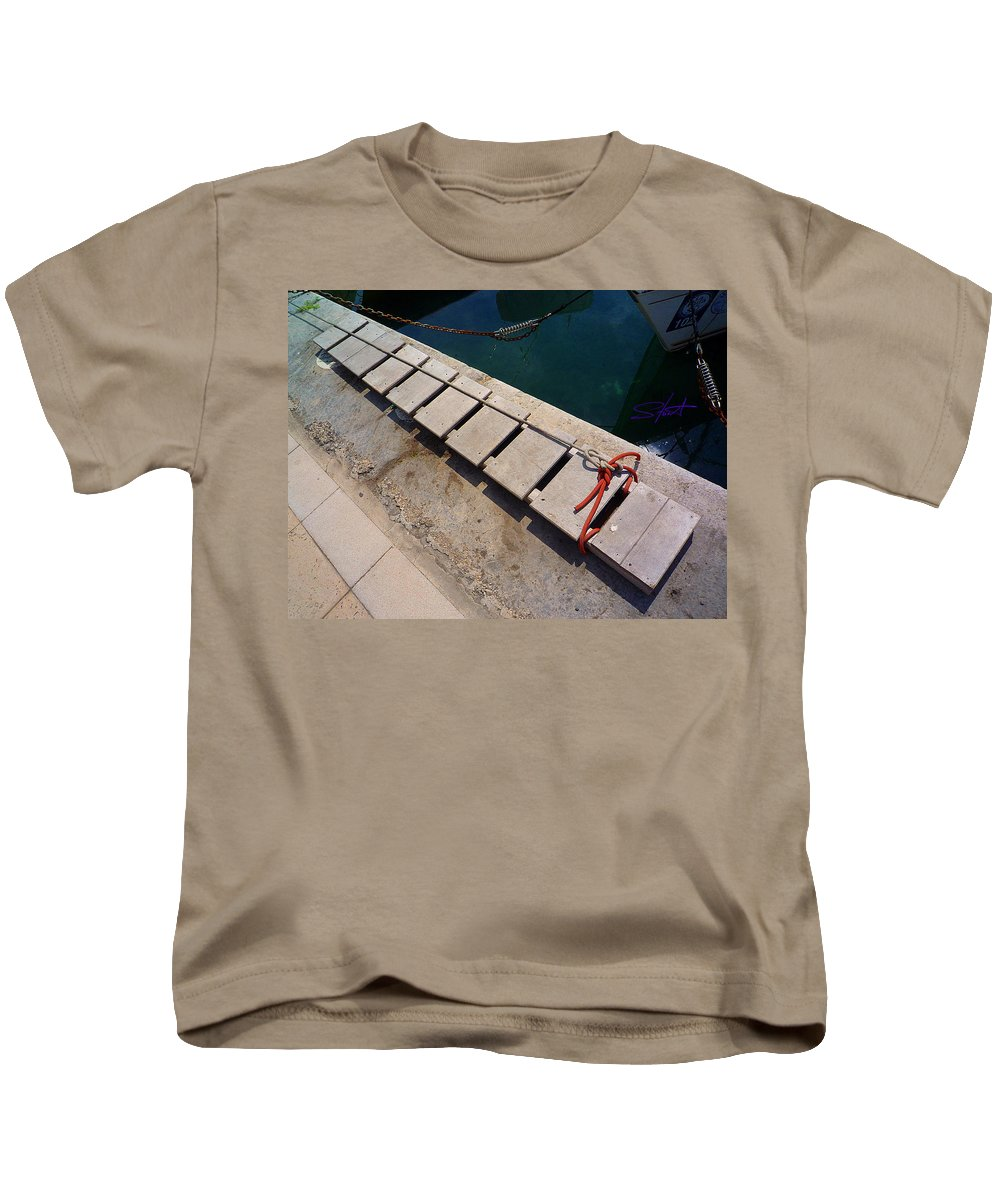 Fishing Net Kids T-Shirt featuring the photograph Access by Charles Stuart