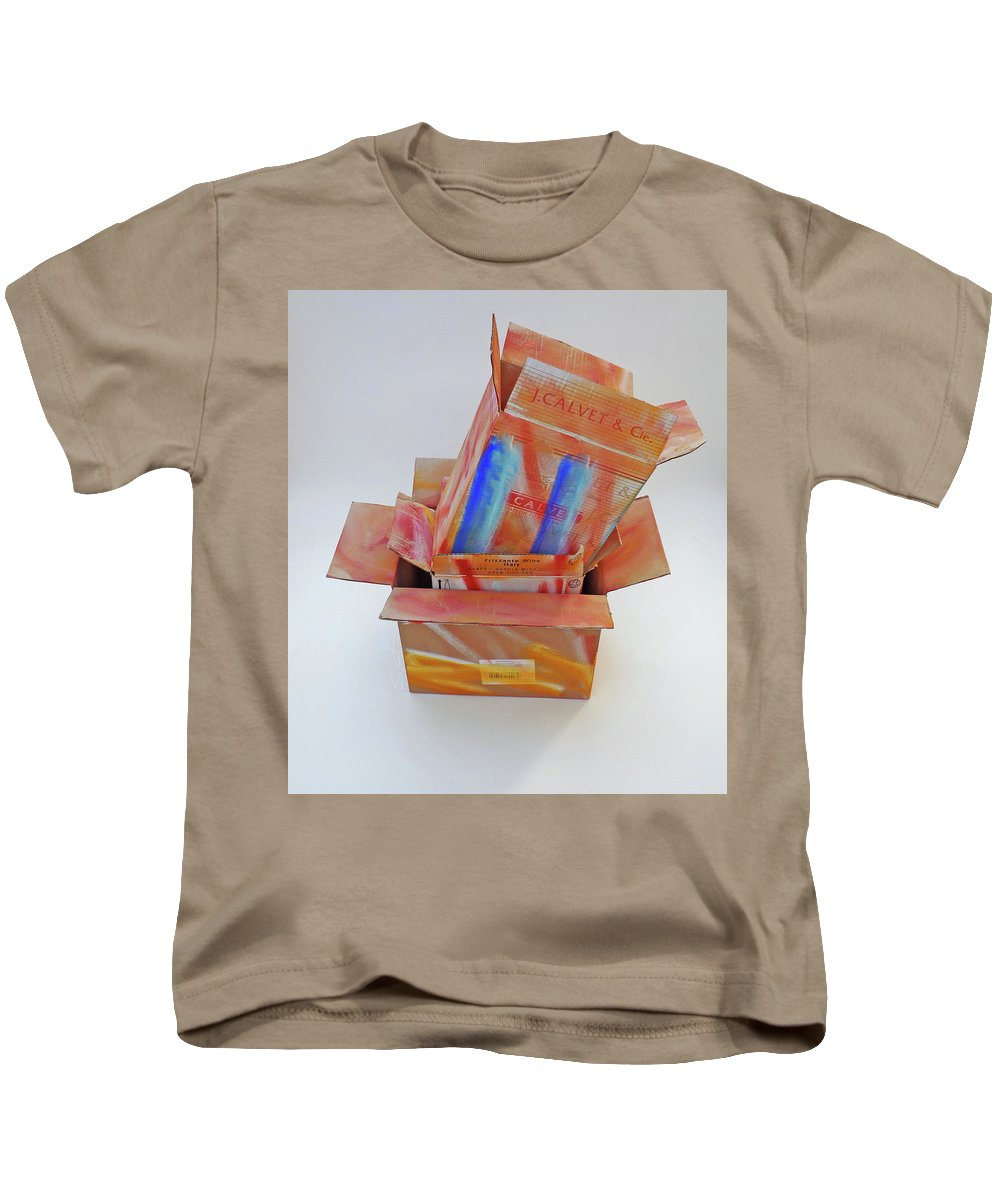 Fresh Kids T-Shirt featuring the mixed media Aftermath by Charles Stuart
