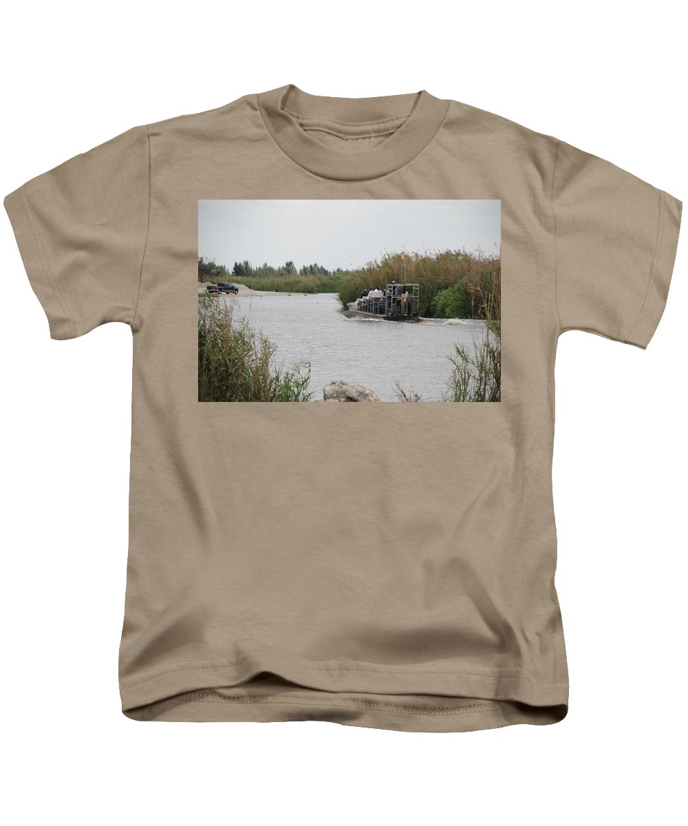 Everglades Kids T-Shirt featuring the photograph Airboat Rides 25 Cents by Rob Hans