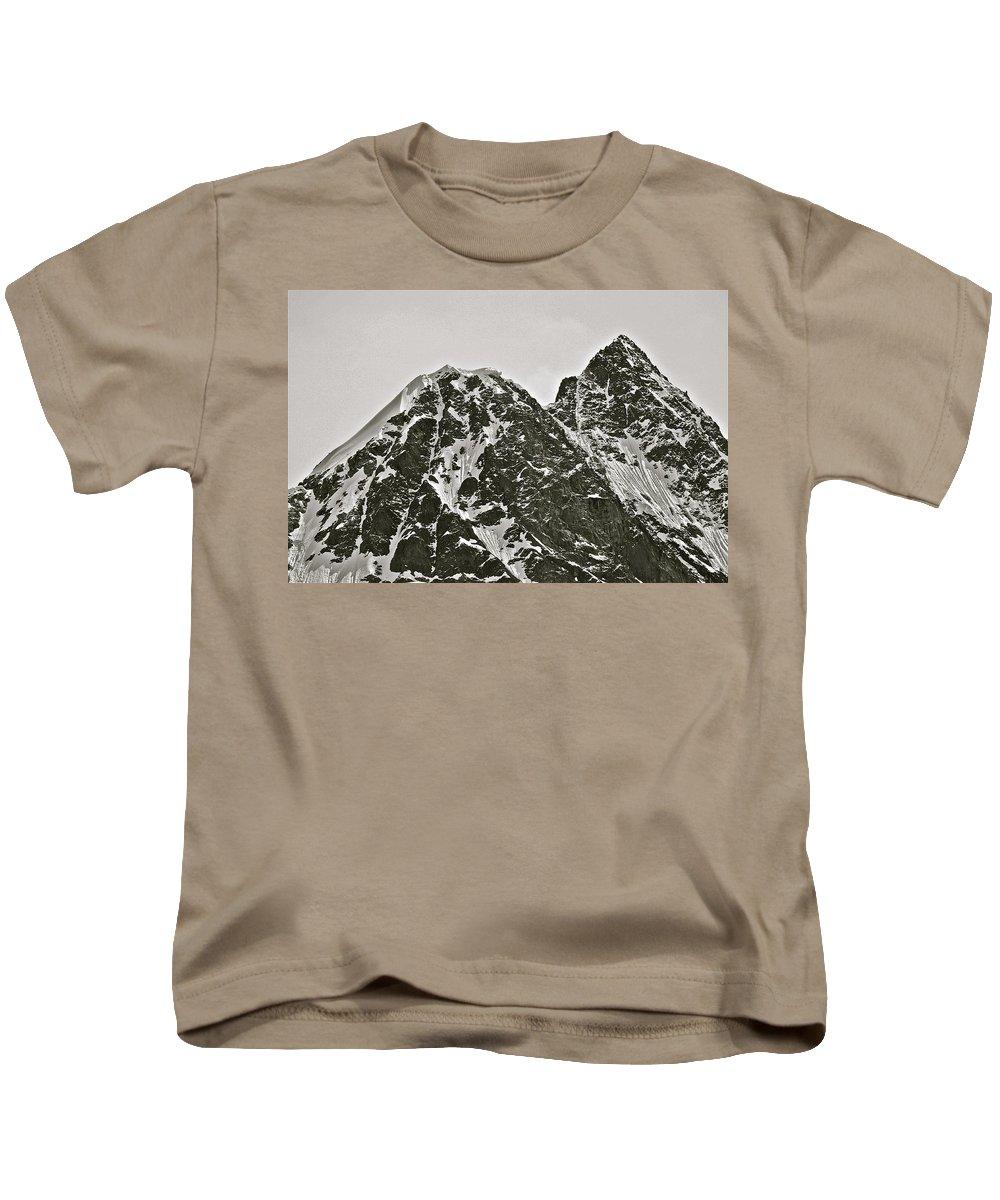 Alaska Kids T-Shirt featuring the photograph Alaskan Peaks by Diana Hatcher
