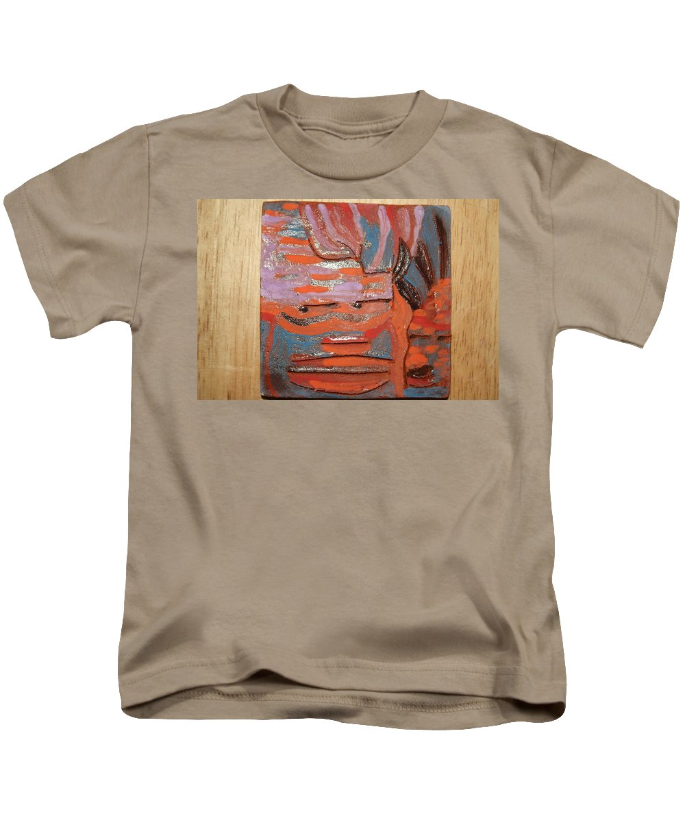 Jesus Kids T-Shirt featuring the ceramic art Albert And Christine - Tile by Gloria Ssali