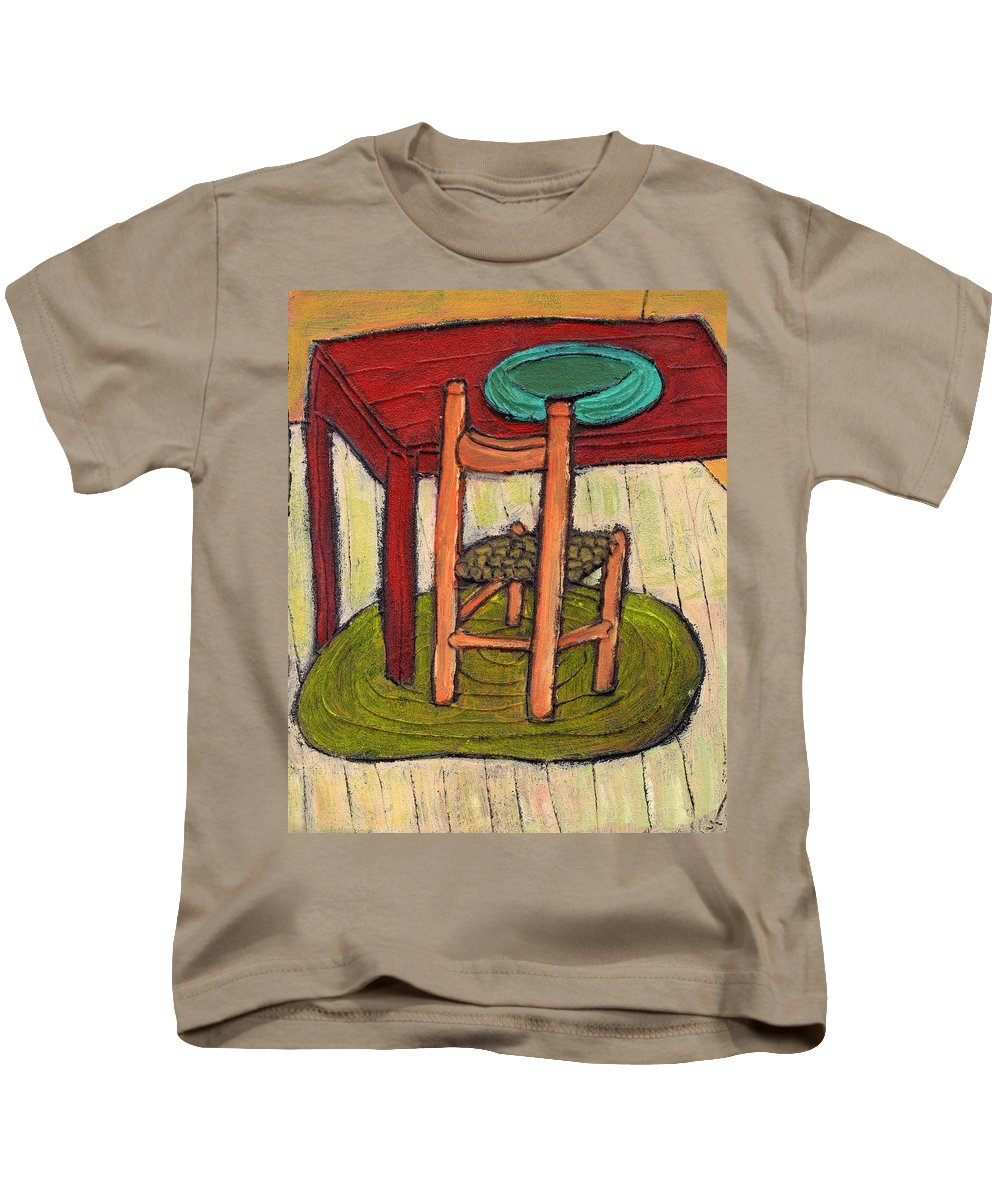 Kitchen Kids T-Shirt featuring the painting Alone by Wayne Potrafka
