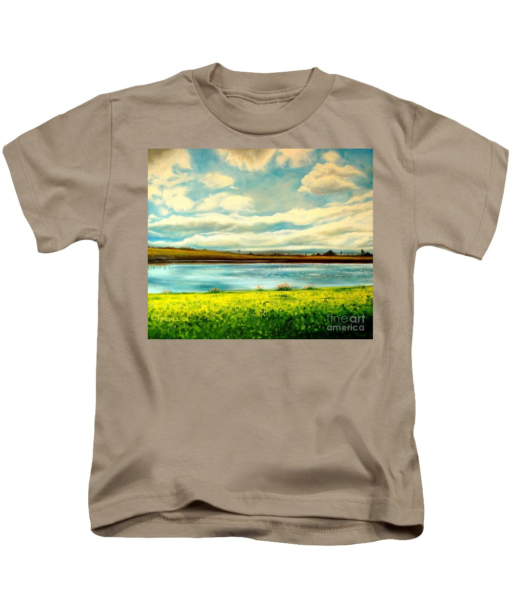 Landscape Kids T-Shirt featuring the painting Am I Dreaming by Elizabeth Robinette Tyndall