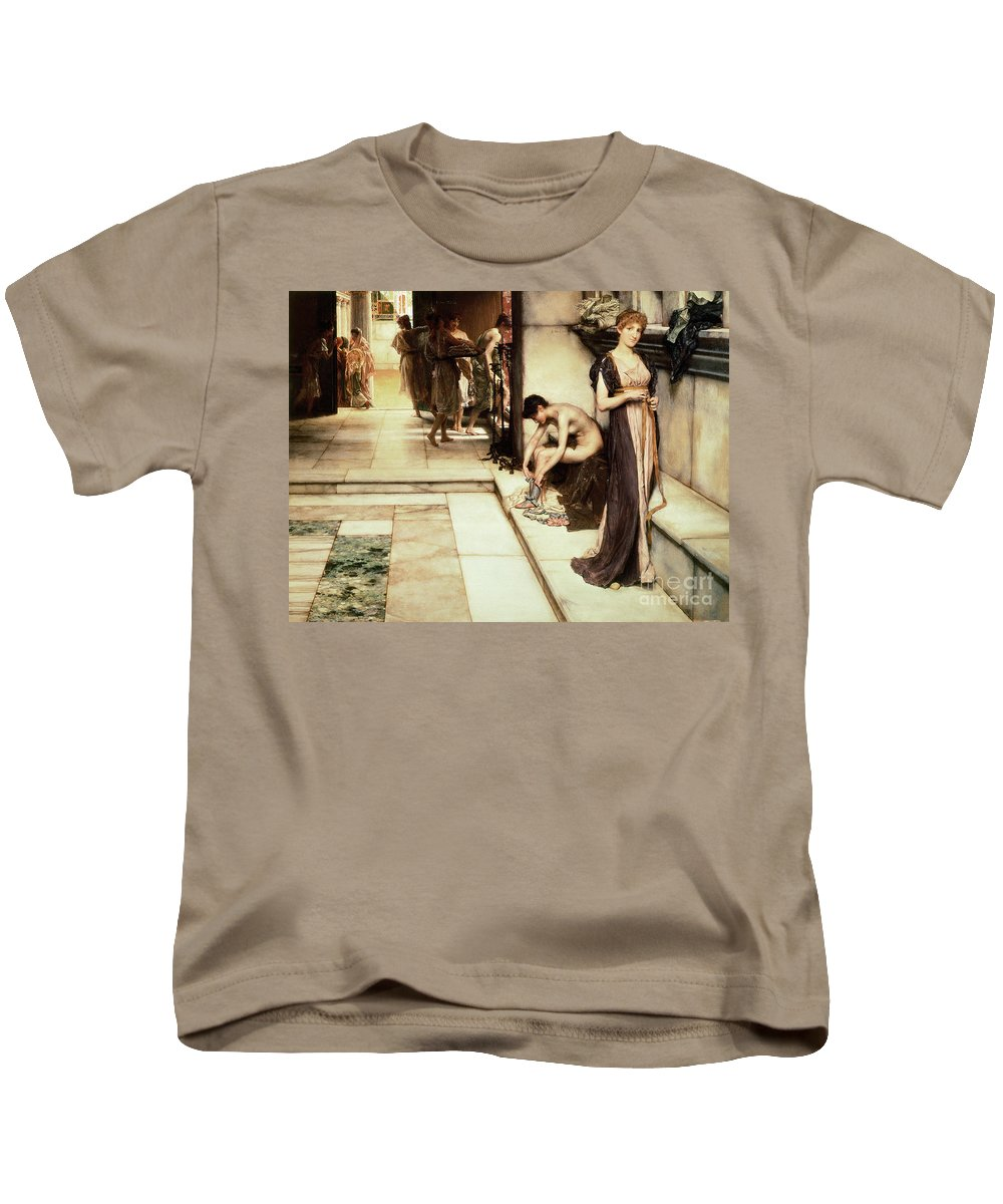 Apodyterium Kids T-Shirt featuring the painting An Apodyterium by Sir Lawrence Alma-Tadema