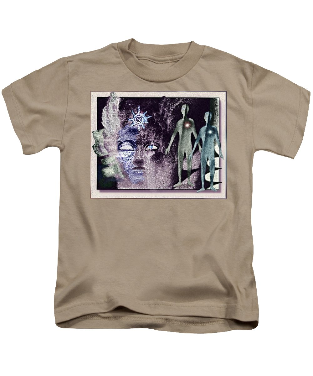 Ancient Kids T-Shirt featuring the painting Ancient Gods by Hartmut Jager