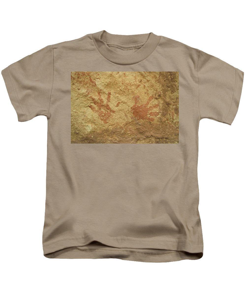 Anasazi Kids T-Shirt featuring the photograph Ancient Hands by Jerry McElroy