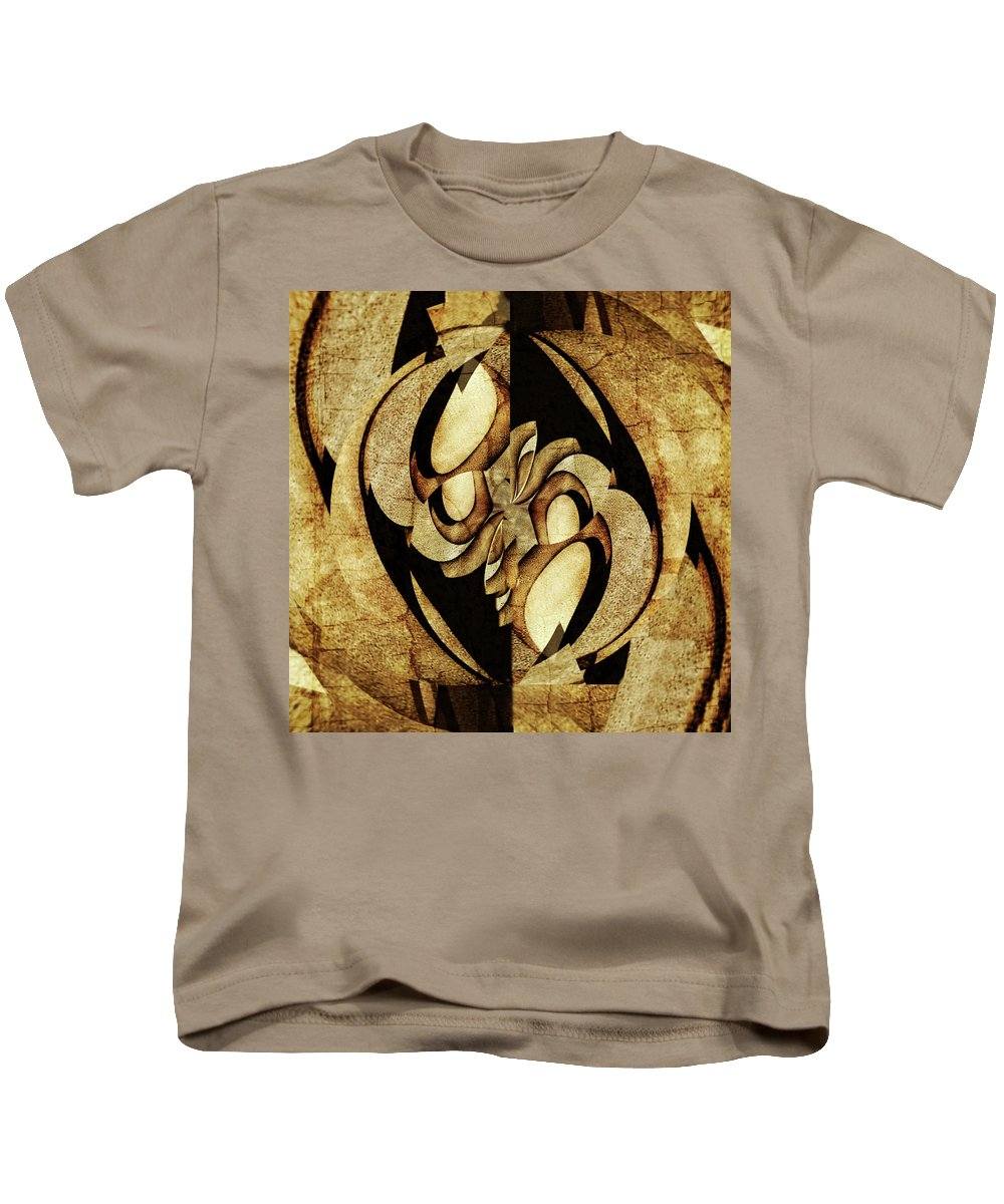 Ancient Kids T-Shirt featuring the painting Ancient Symbols by Barry King