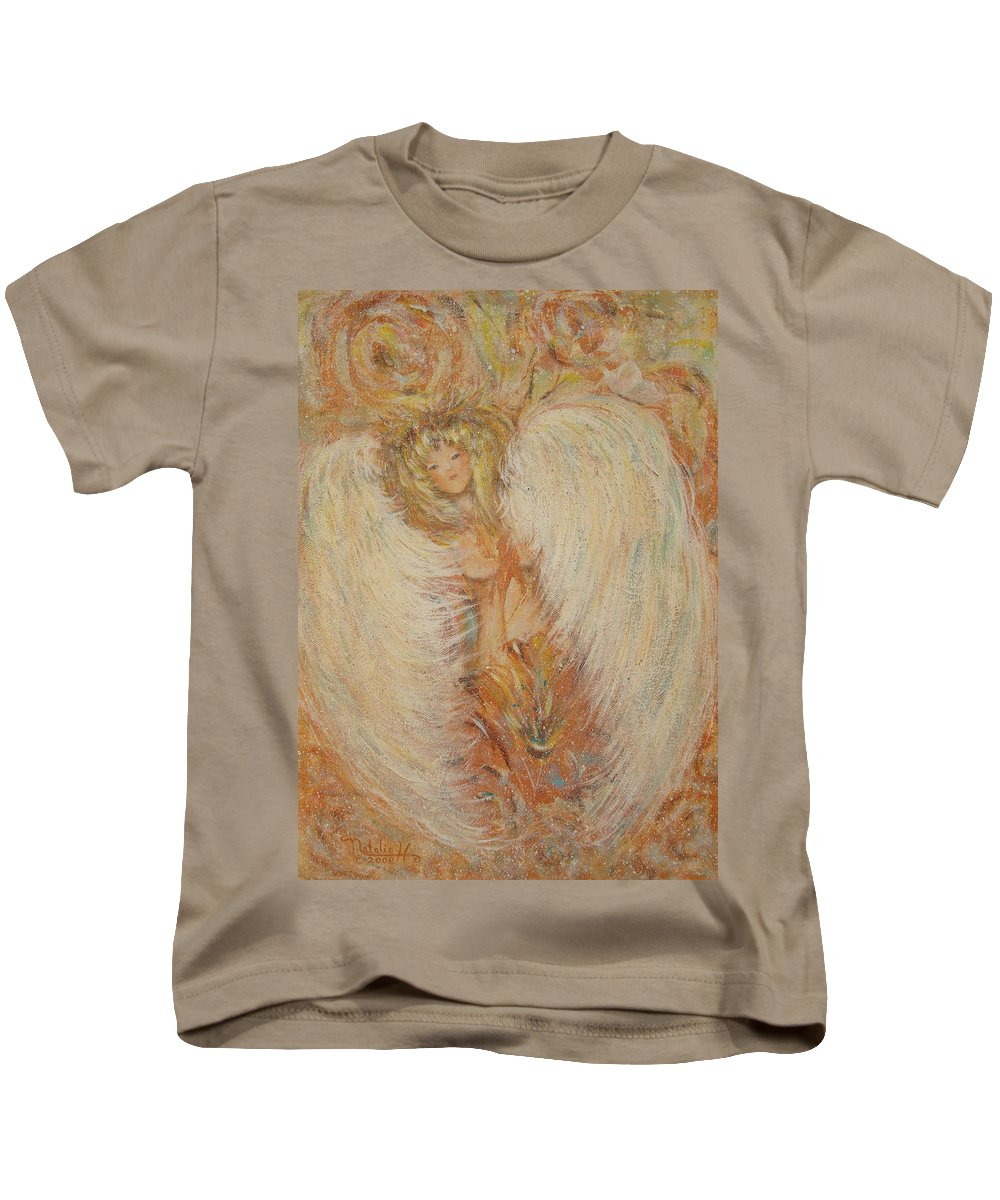Angel Kids T-Shirt featuring the painting Angel Loves You by Natalie Holland
