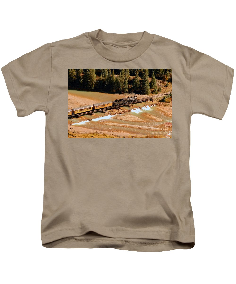 Animas River Kids T-Shirt featuring the photograph Animas River Crossing by David Lee Thompson