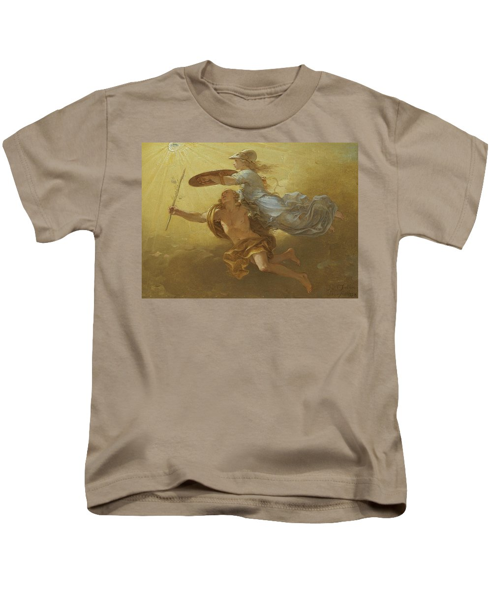 Simon Julien Kids T-Shirt featuring the painting Apollo And Minerva by Simon Julien