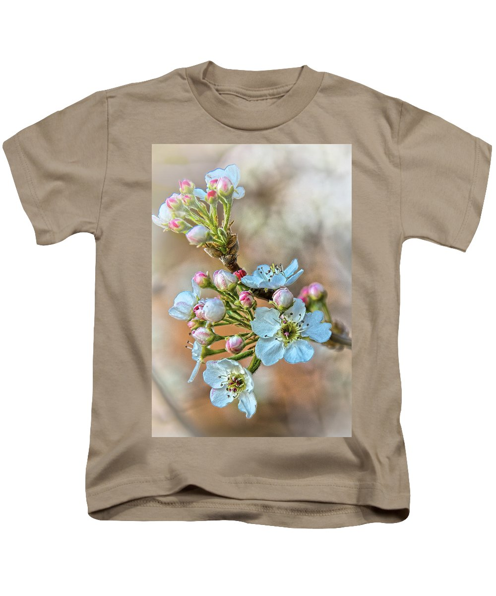 Apple Kids T-Shirt featuring the photograph Apples In The Spring by Charles Muhle