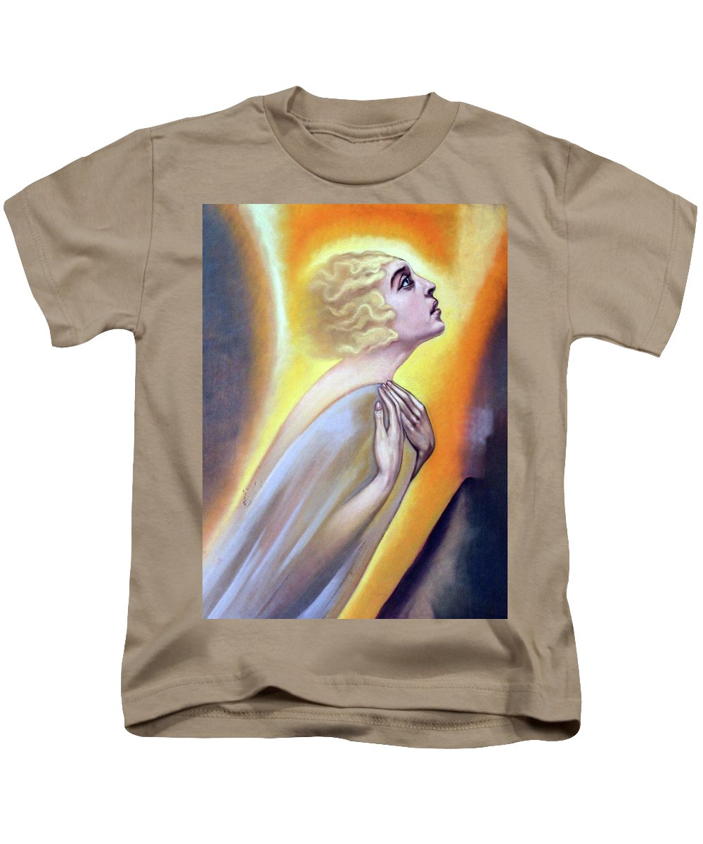 Woman Kids T-Shirt featuring the photograph Approaching The Light by Munir Alawi