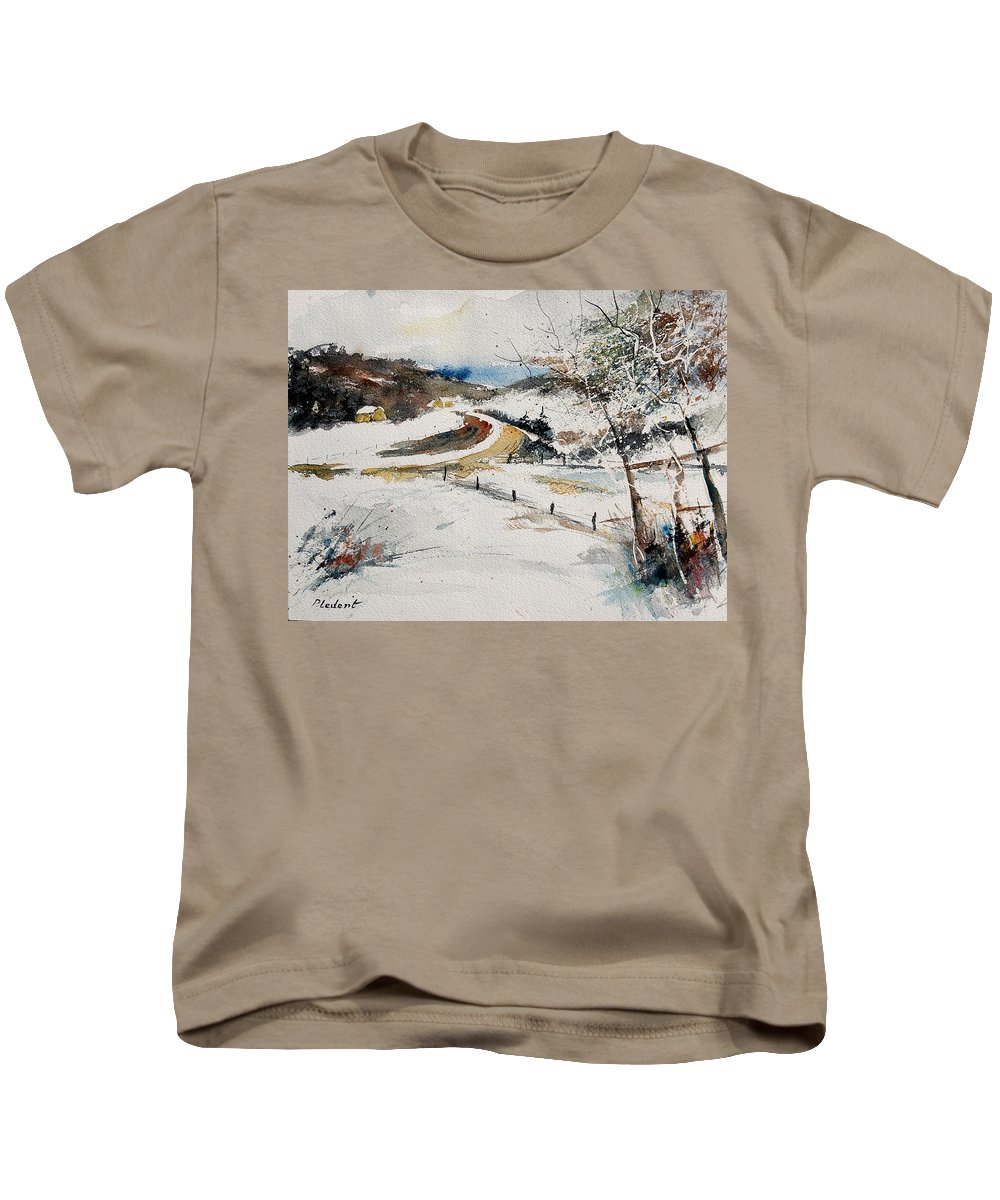 Landscape Kids T-Shirt featuring the painting Aqua 220908 by Pol Ledent