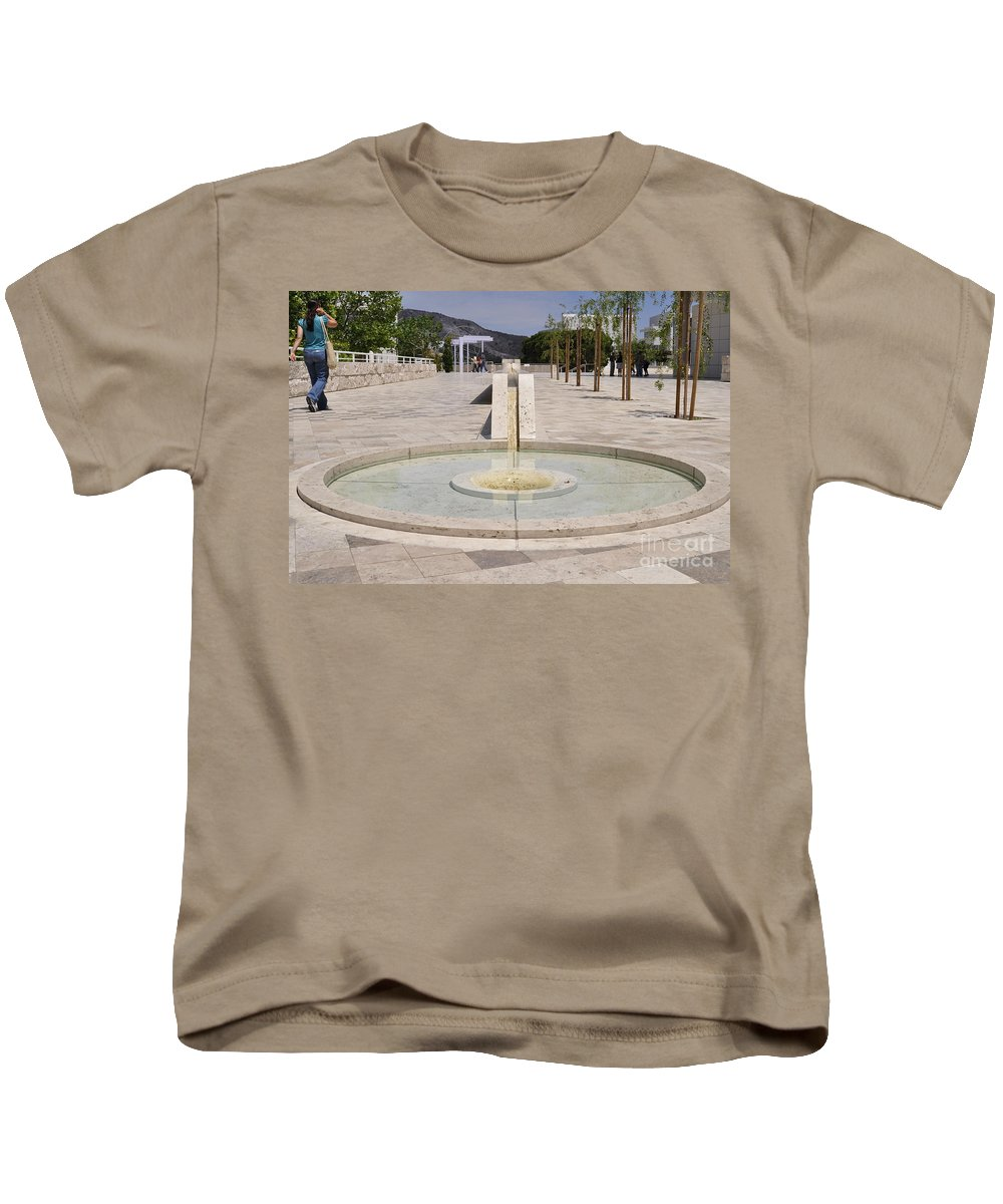 Clay Kids T-Shirt featuring the photograph Architecture At The Getty by Clayton Bruster
