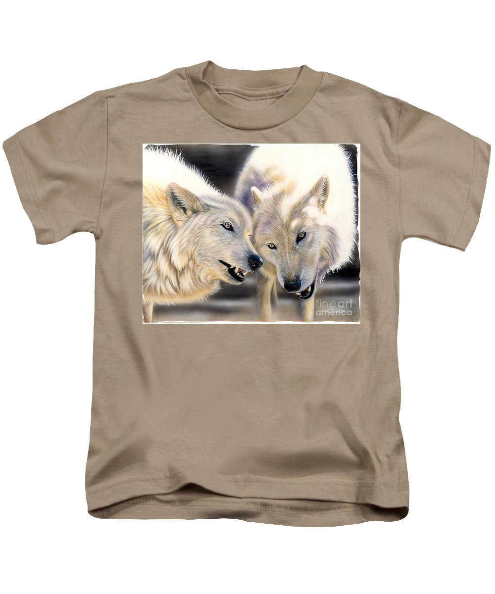 Acrylics Kids T-Shirt featuring the painting Arctic Pair by Sandi Baker