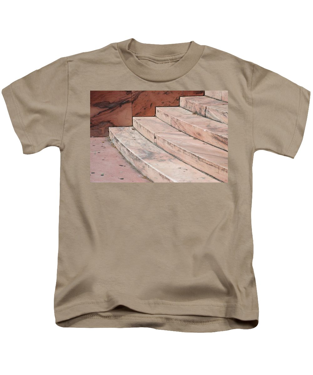 Architecture Kids T-Shirt featuring the photograph Art Deco Steps by Rob Hans