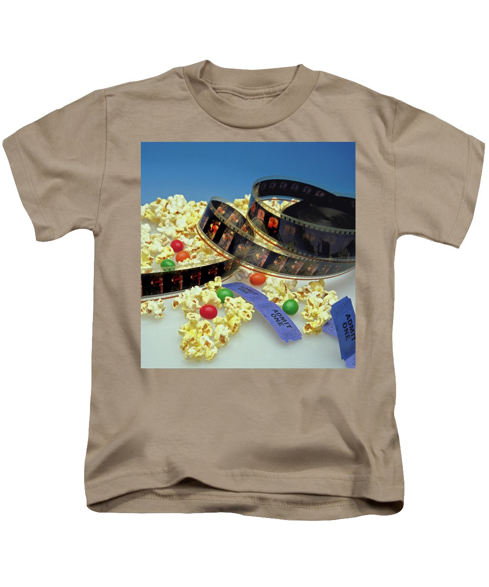 Theater Kids T-Shirt featuring the photograph At The Movies by Marie Hicks