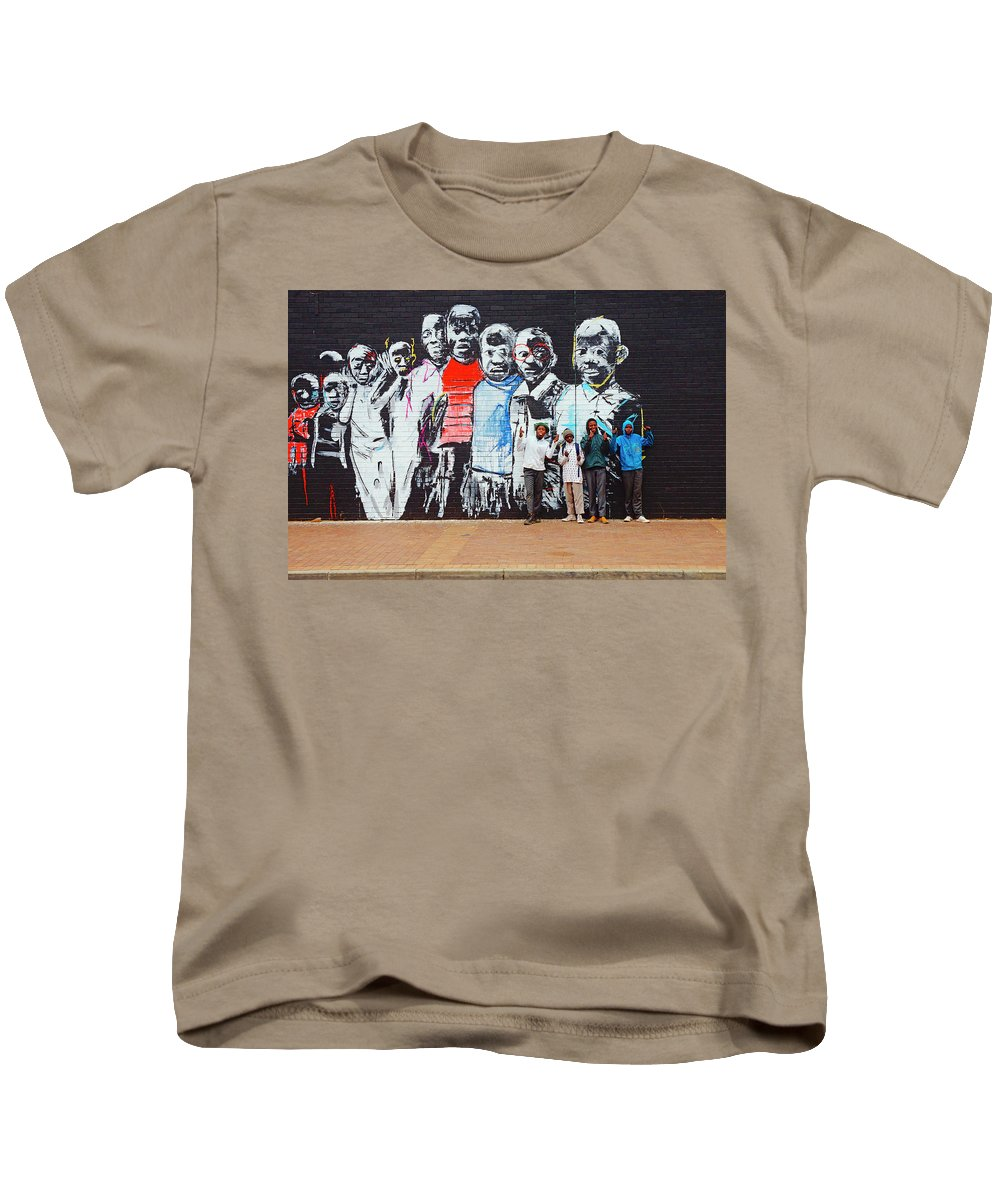 Street Mural Kids T-Shirt featuring the photograph Back To School by Suzanne Morshead