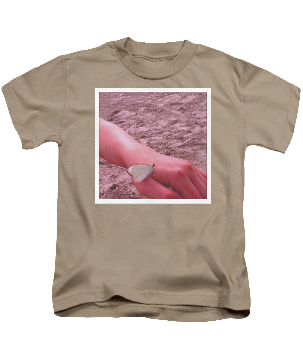Beach Kids T-Shirt featuring the photograph Beach Butterfly by Claire Kenney