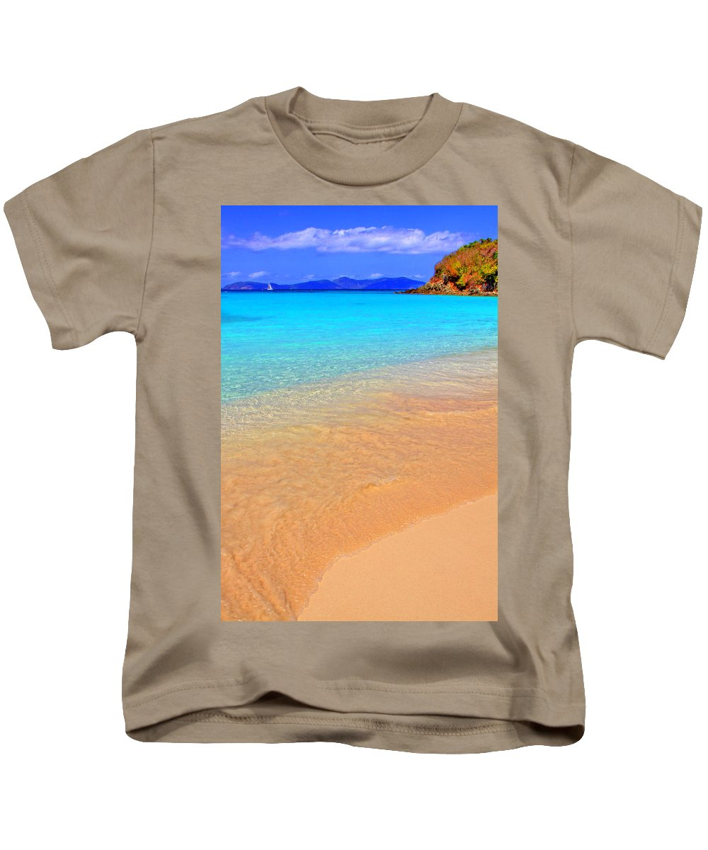 Isle Kids T-Shirt featuring the photograph Beachside by Scott Mahon