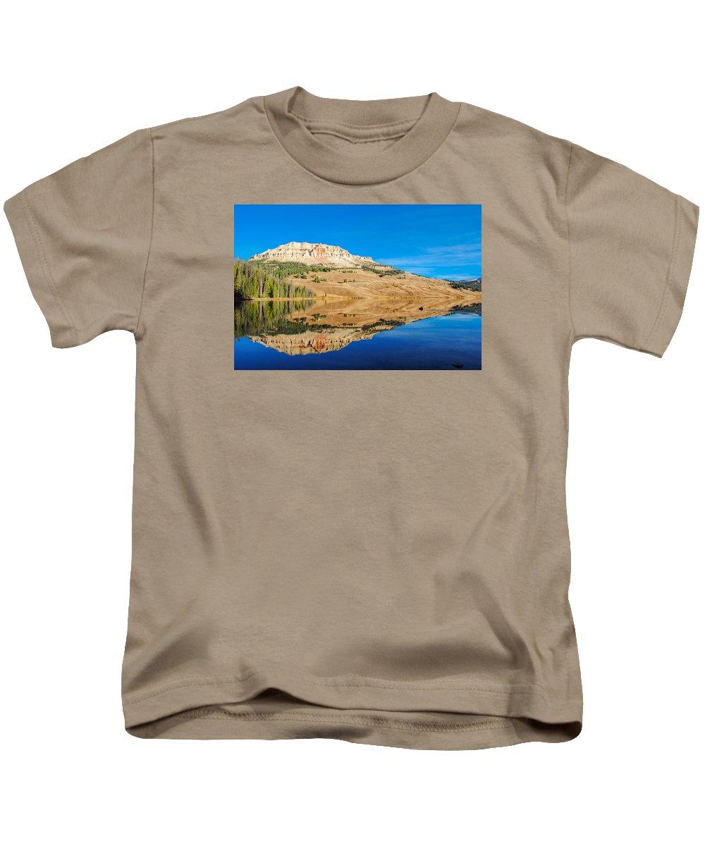 Beartooth Mountains Kids T-Shirt featuring the photograph Beartooth Lake by Megan Martens