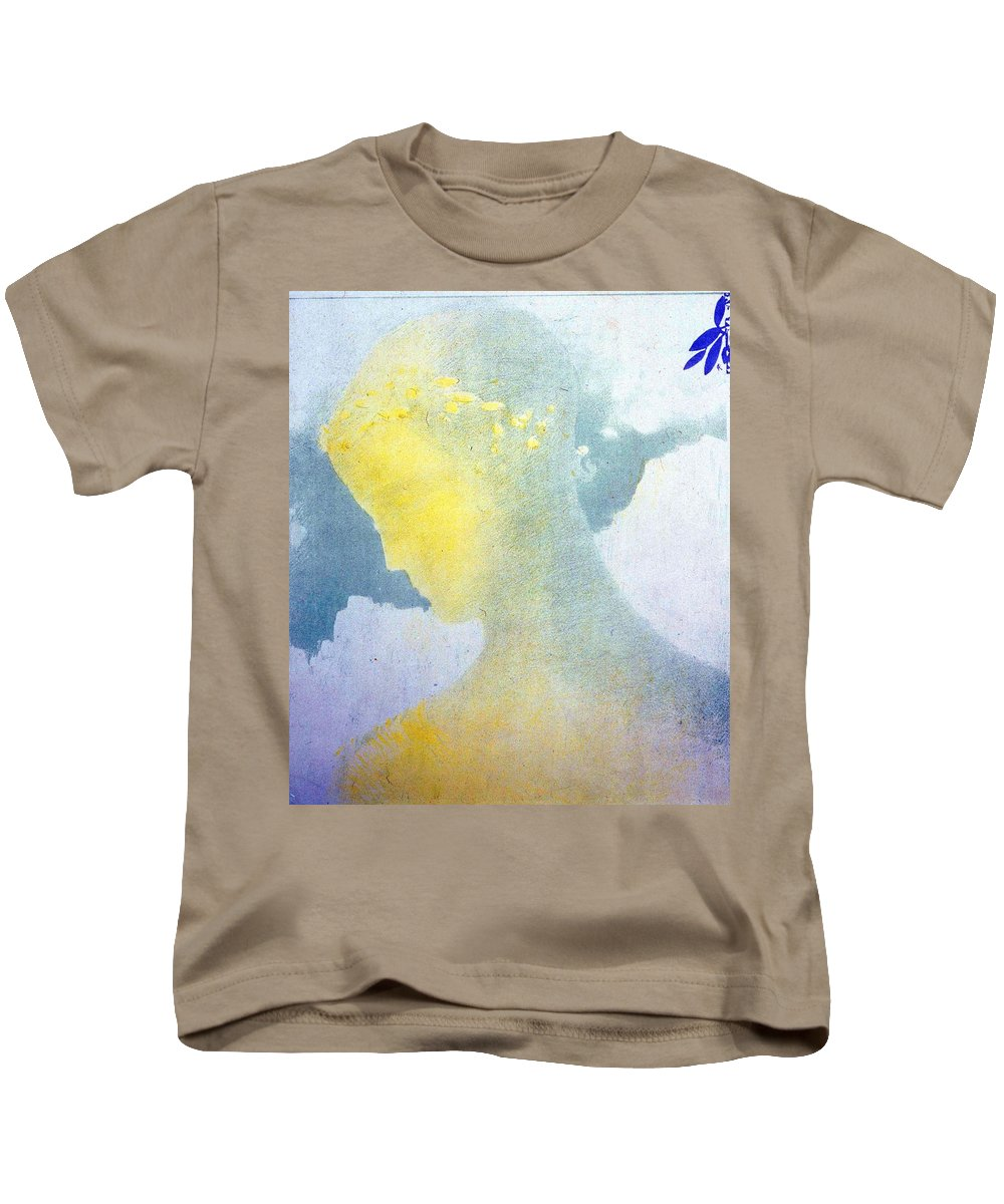 Odilon Redon Kids T-Shirt featuring the painting Beatrice by Odilon Redon