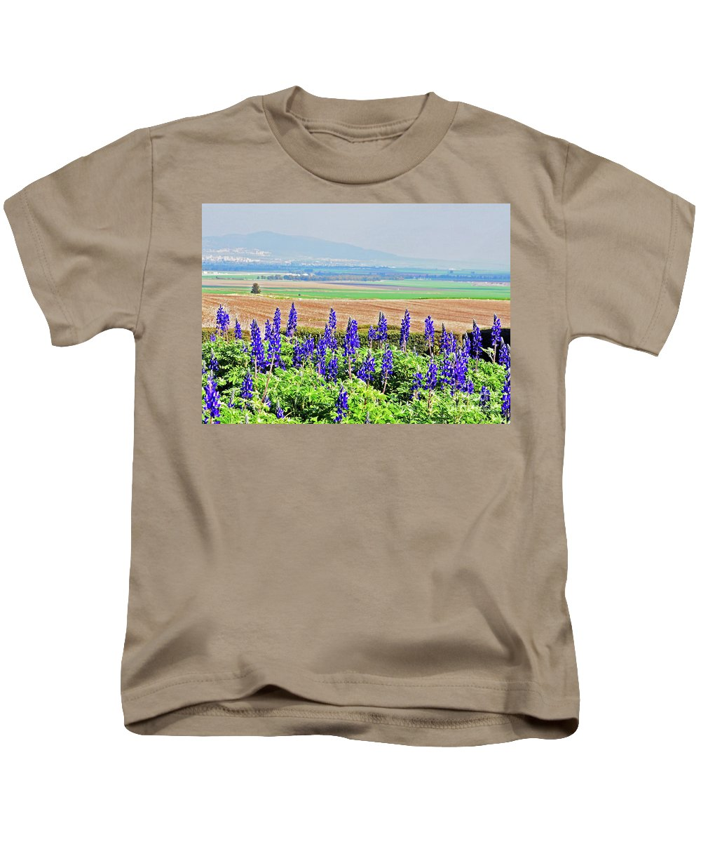 Bluebonnets Kids T-Shirt featuring the photograph Beautiful Bluebonnets by Lydia Holly
