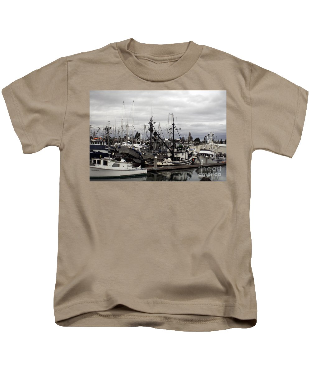 Art Kids T-Shirt featuring the photograph Bellingham Bay Ship Yard by Clayton Bruster