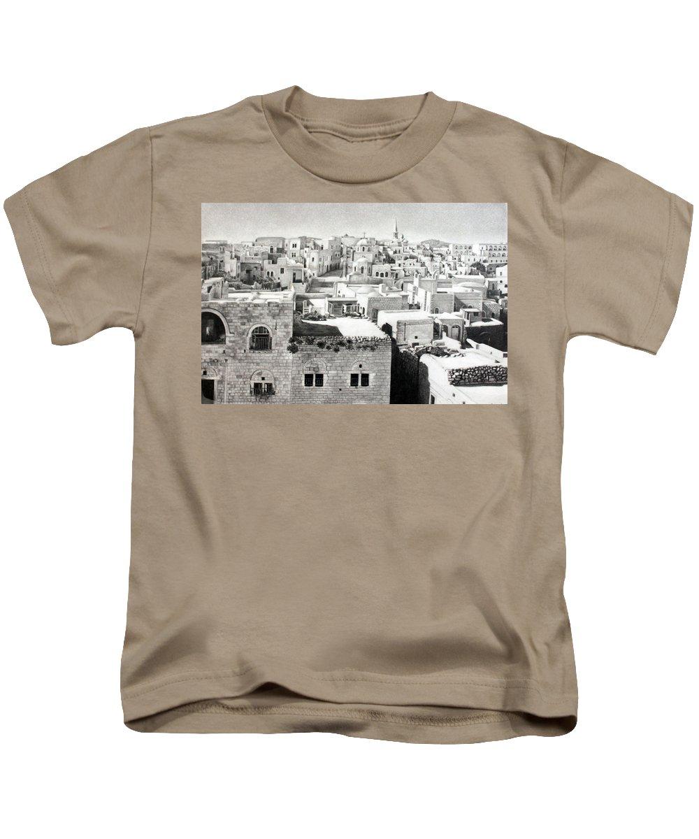 Bethlehem Kids T-Shirt featuring the photograph Bethlehem Old Town by Munir Alawi