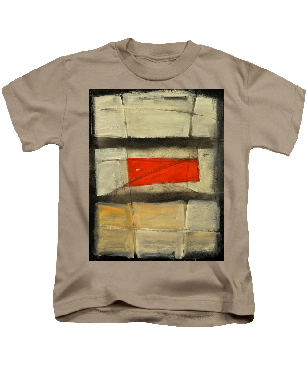 Abstract Kids T-Shirt featuring the painting Between The Bars by Tim Nyberg