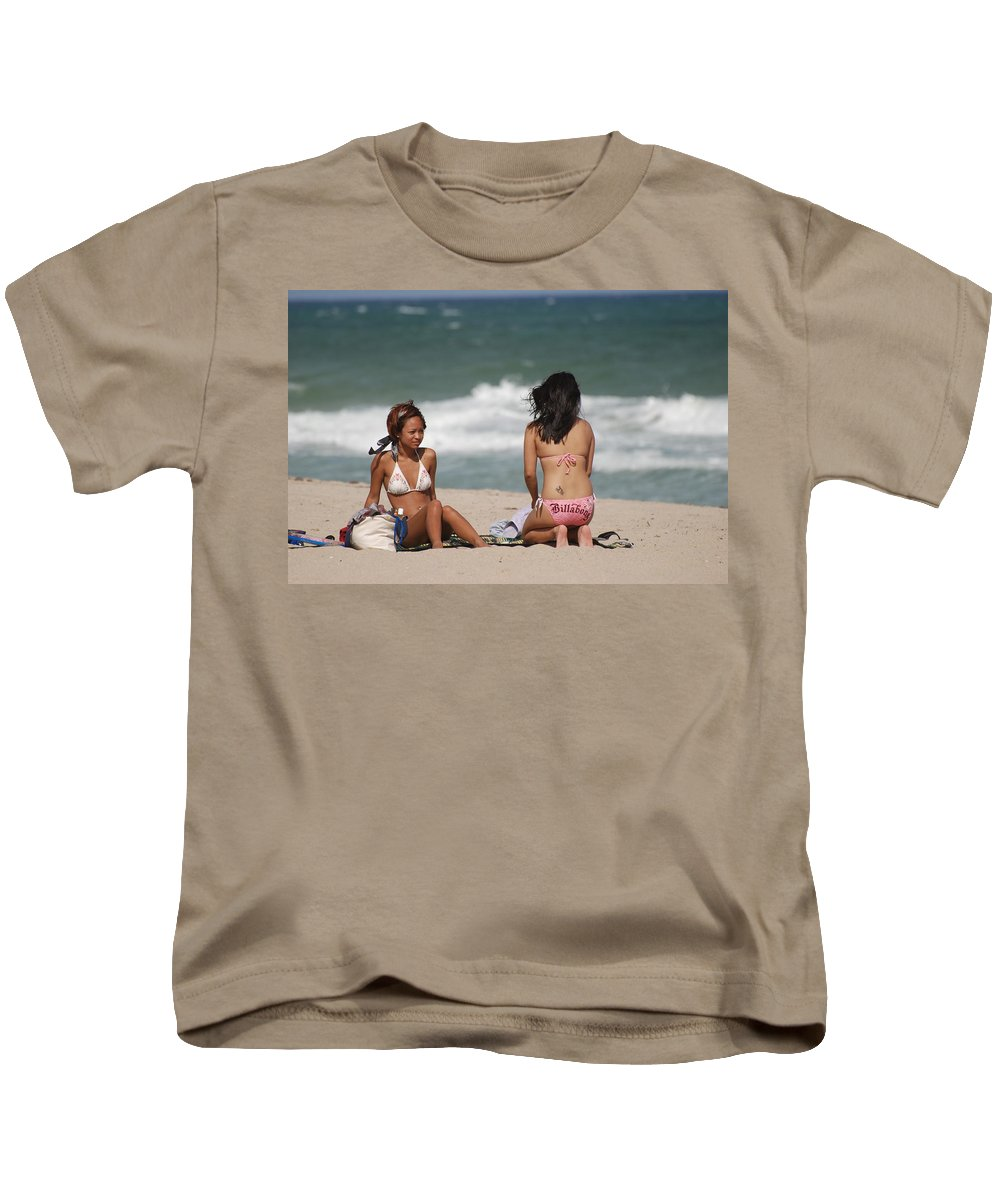 Sea Scape Kids T-Shirt featuring the photograph Billabong Girls by Rob Hans