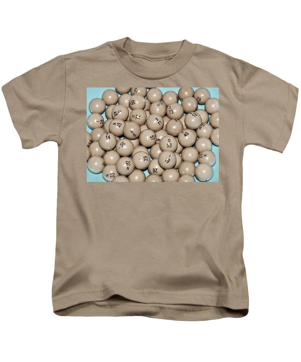 Bingo;keno Kids T-Shirt featuring the photograph Bingo Balls by Allan Hughes