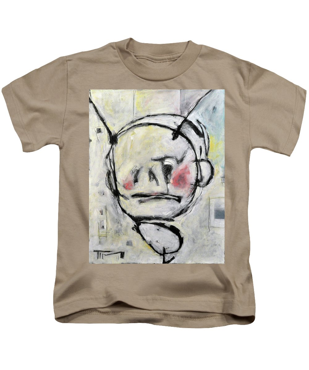Kid's Art Kids T-Shirt featuring the painting Blue Boy by Tim Nyberg