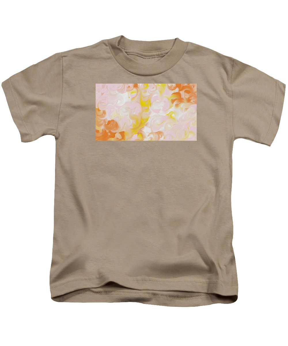 Kids T-Shirt featuring the digital art Blushy by Katey Love