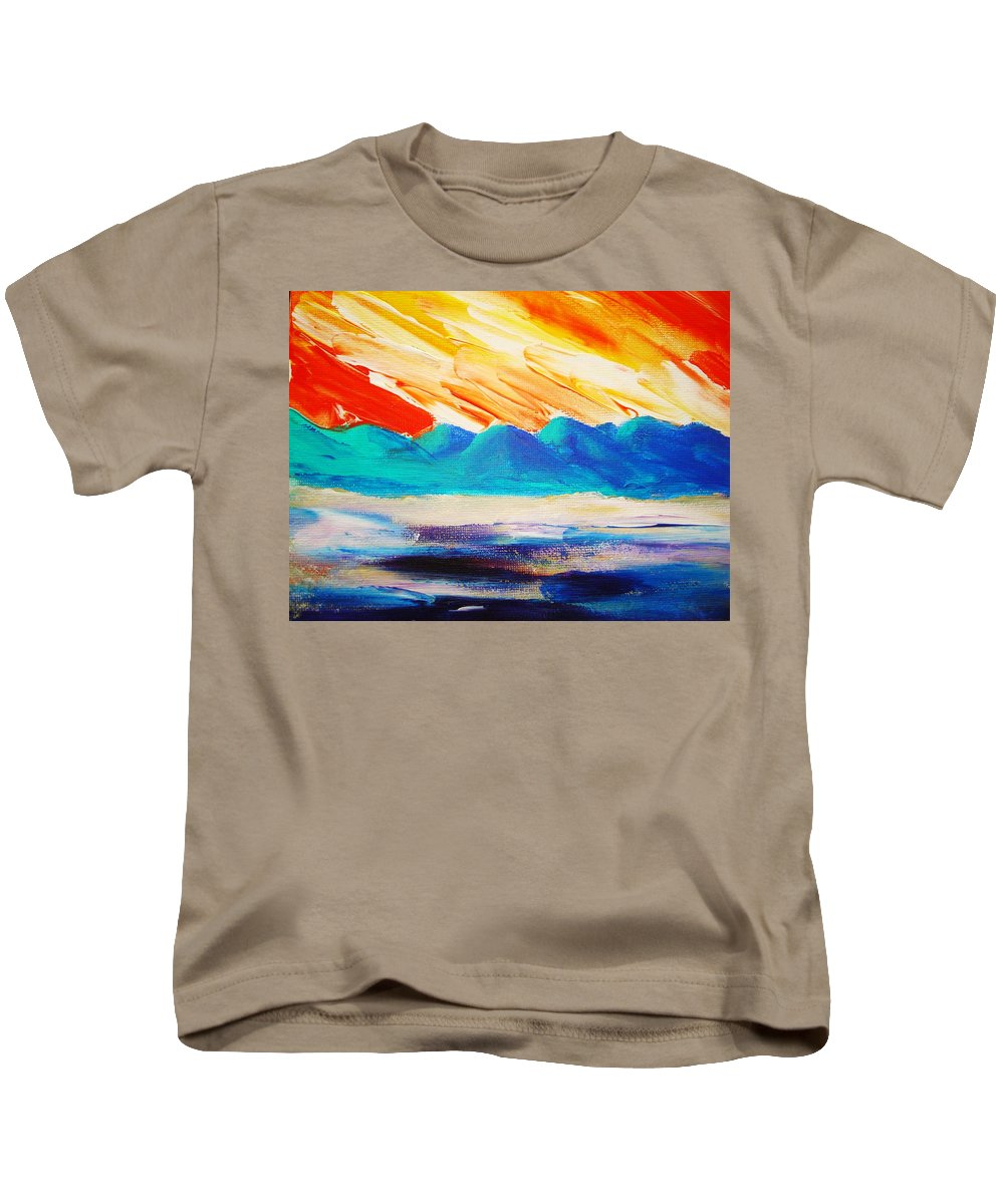 Bright Kids T-Shirt featuring the painting Bold Day by Melinda Etzold