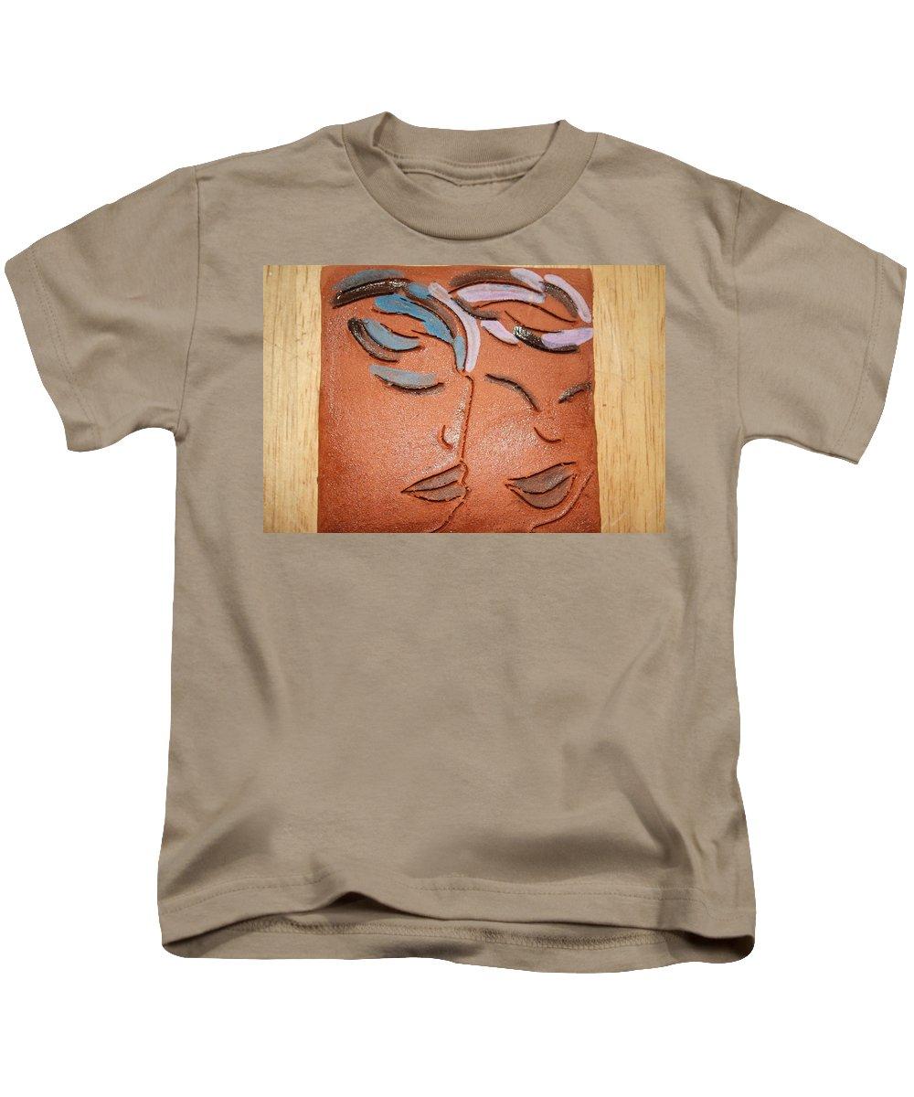 Jesus Kids T-Shirt featuring the ceramic art Bonds - Tile by Gloria Ssali