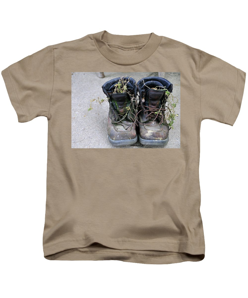 Boots Kids T-Shirt featuring the photograph Boots by David Arment