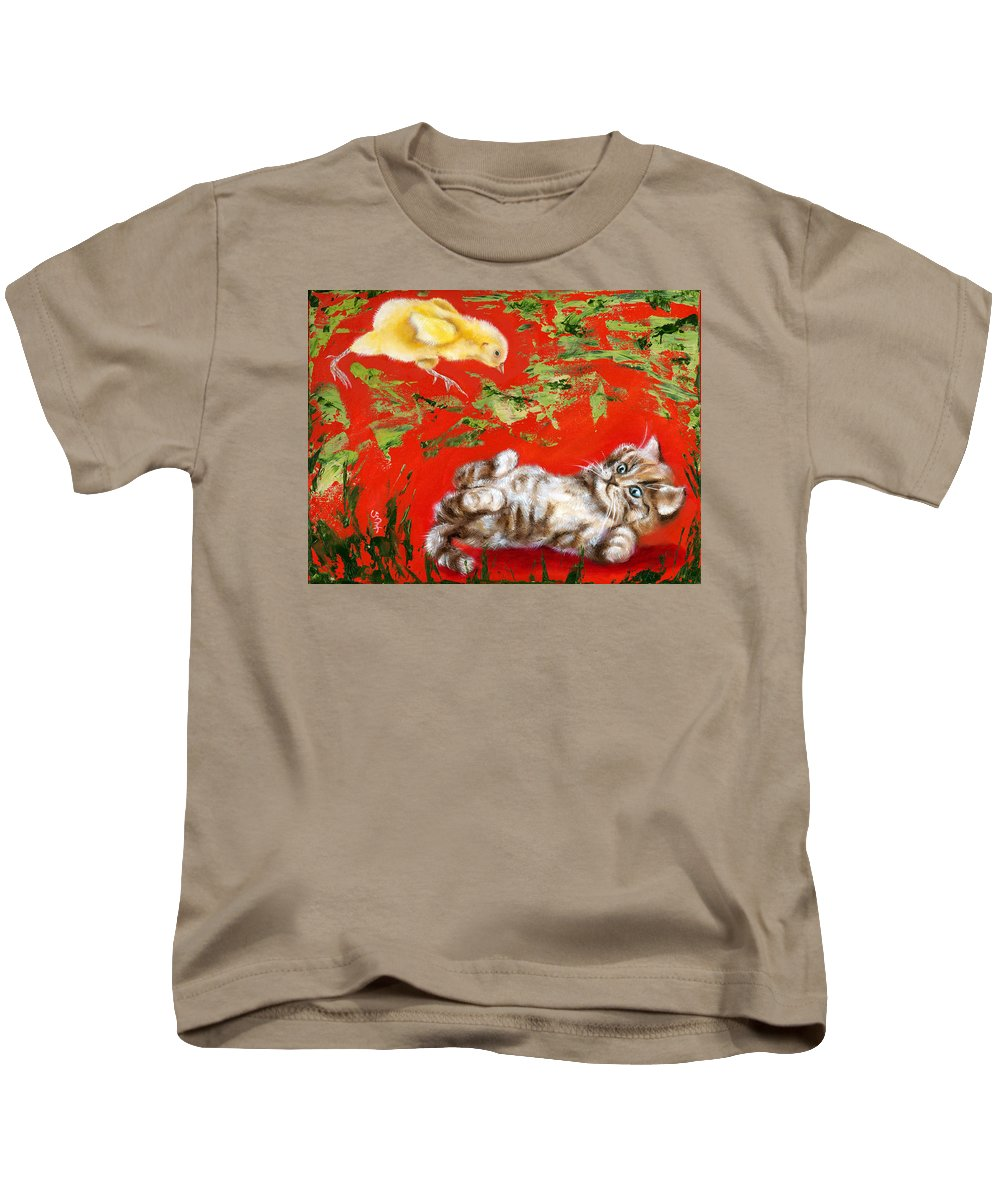 Cat Kids T-Shirt featuring the painting Born To Be Wild by Hiroko Sakai