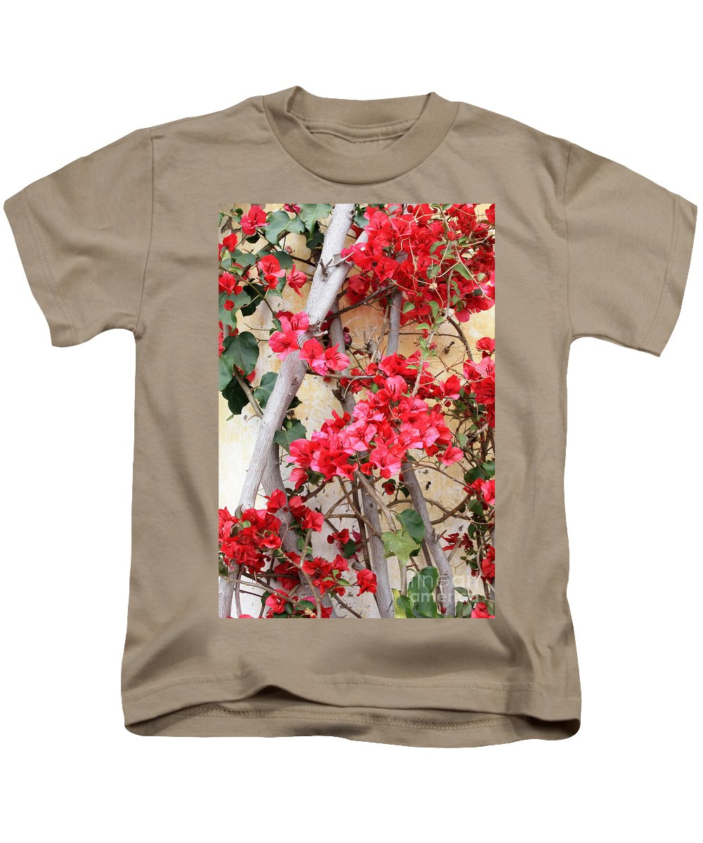 Bougainvilla Kids T-Shirt featuring the photograph Bougainvillea by Carol Groenen