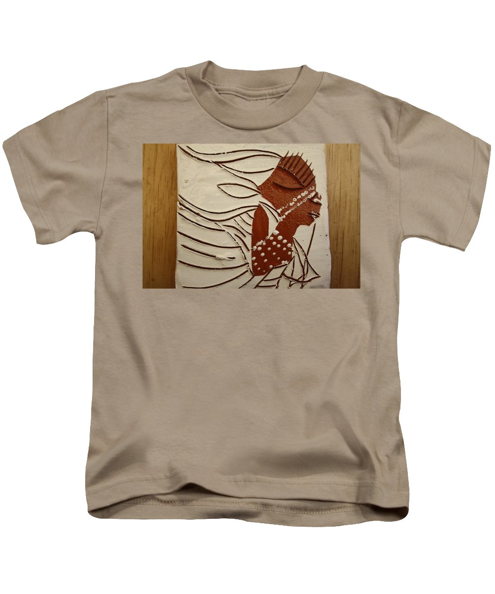 Jesus Kids T-Shirt featuring the ceramic art Bride 11 - Tile by Gloria Ssali