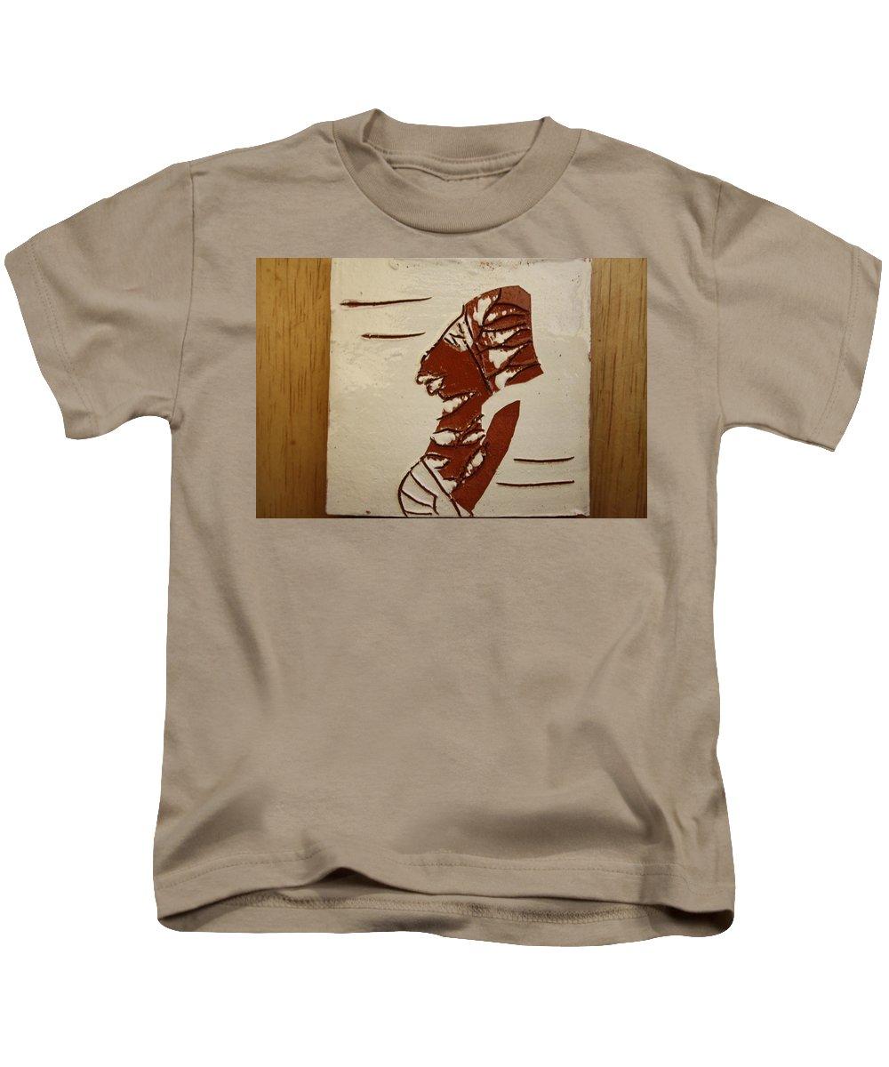 Jesus Kids T-Shirt featuring the ceramic art Bride 5 - Tile by Gloria Ssali
