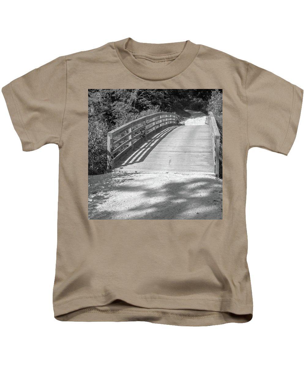 Outdoor Kids T-Shirt featuring the photograph Bridge In The Path II by Lori Lynn Sadelack