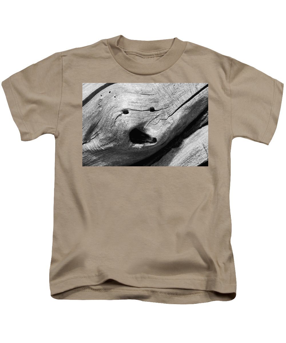 Wood Kids T-Shirt featuring the photograph Broken Smiles by Donna Blackhall