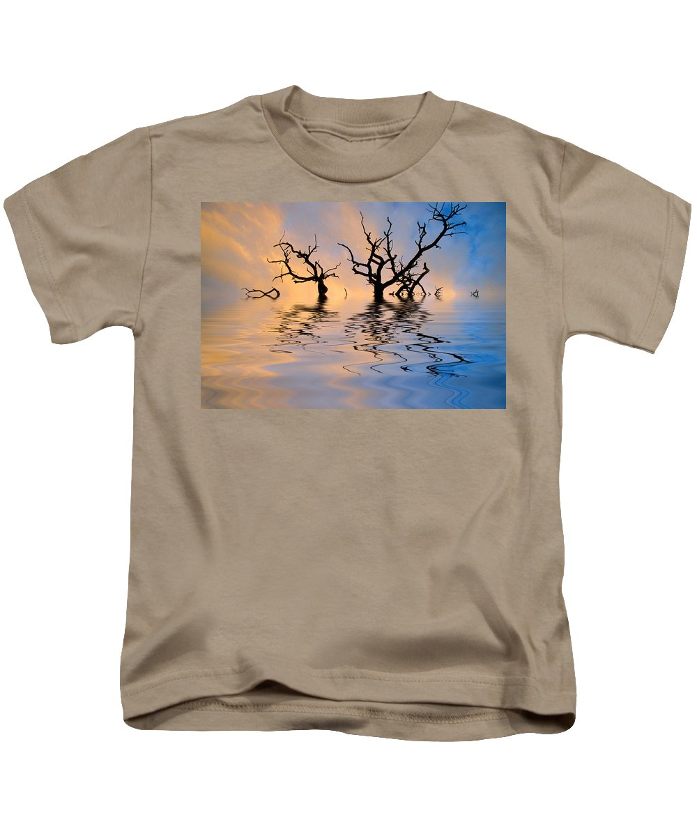 Original Art Kids T-Shirt featuring the photograph Slowly Sinking by Jerry McElroy