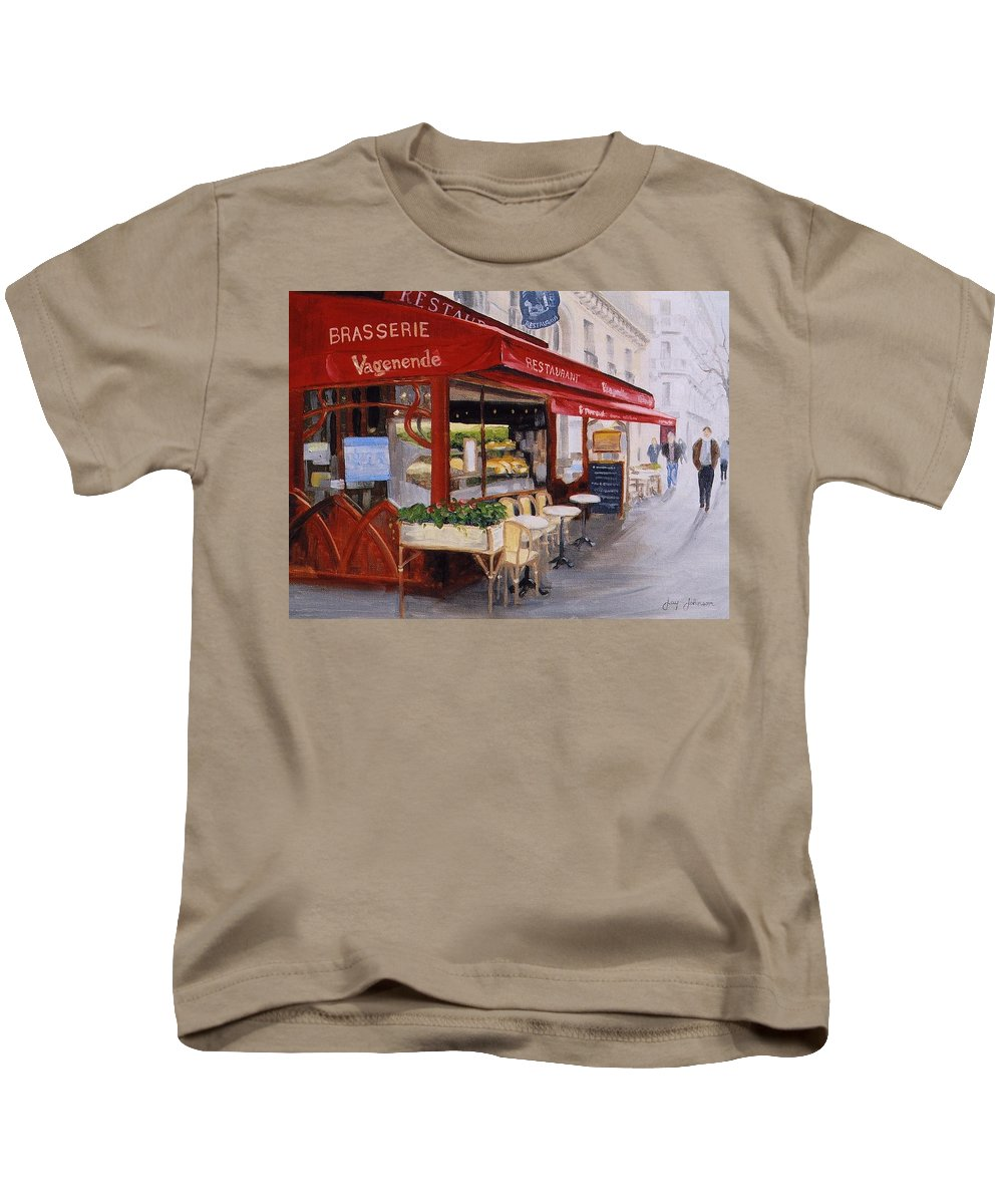 Cafe Kids T-Shirt featuring the painting Cafe 4 by Jay Johnson