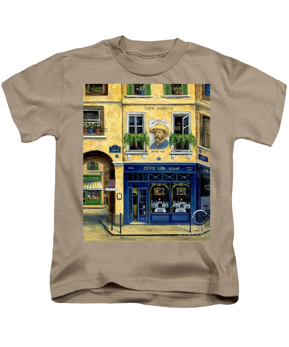 Europe Kids T-Shirt featuring the painting Cafe Van Gogh by Marilyn Dunlap